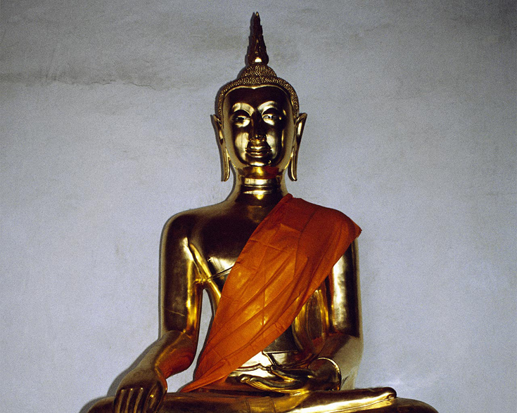 A statue of the Buddha