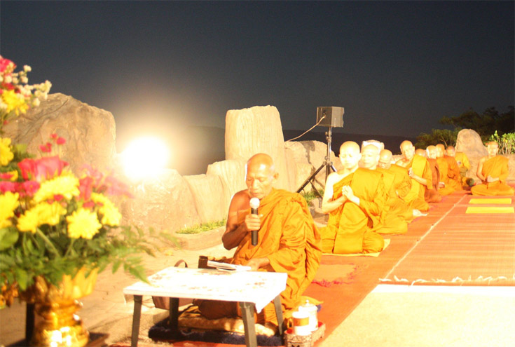 Evening Chant by the monks