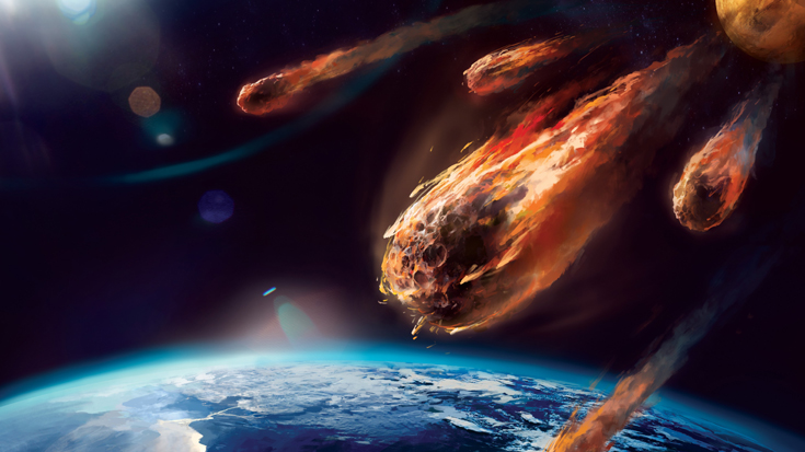 Asteroids are on a collision course with the Earth.