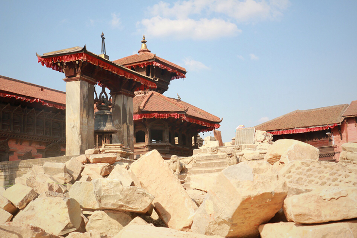 A temple in Bhaktapur, Nepal. destroyed by the 7.8-magnitude earthquake. (Photo: Jack Board)
