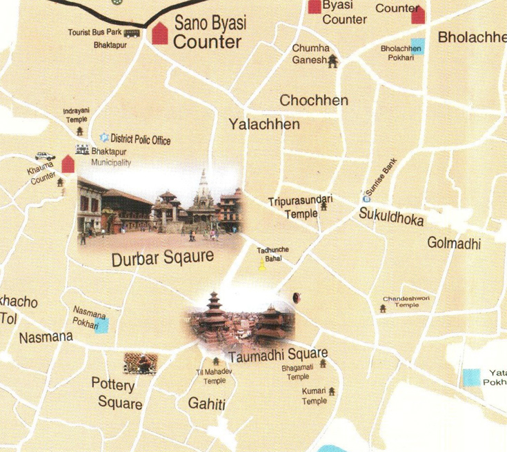 Map of Bhaktapur City