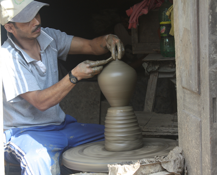 Pottery Man At Bhaktapur City