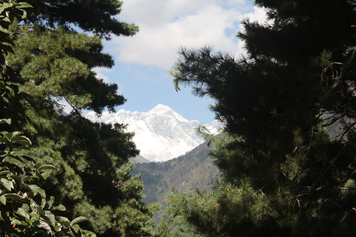 First Sight of Mount Everest