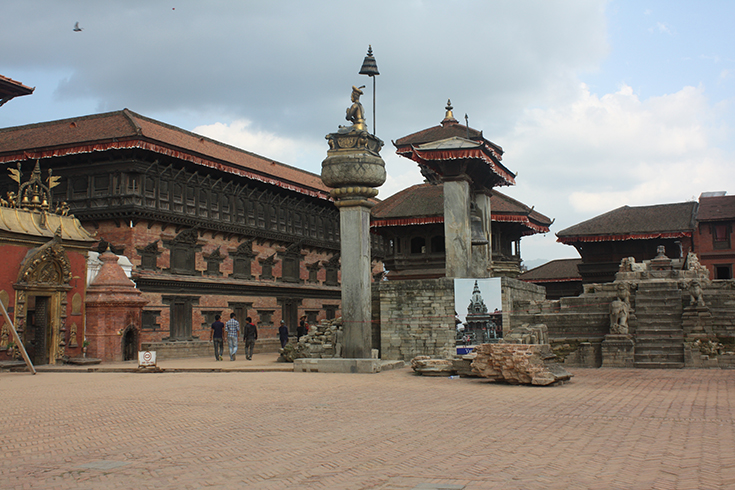 Bhaktapur Durbar Square after 2015 Nepal Earthquake