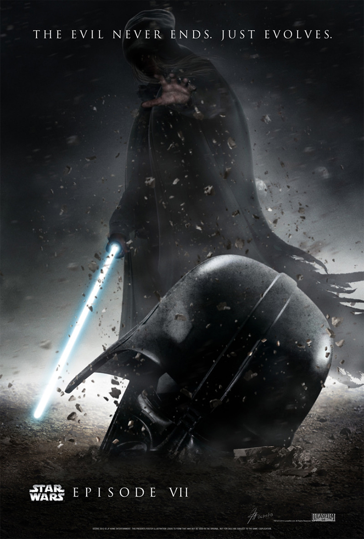 Adam Driver as Kylo Ren: Star Wars: The Force Awakens