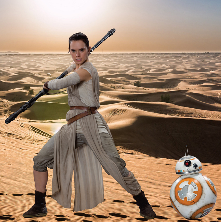Daisy Ridley Rey - Star Wars: The Force Awakens