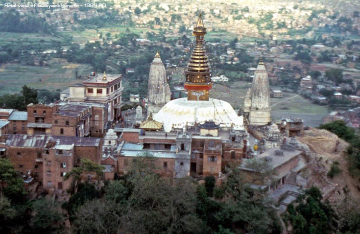 Aerial View of Swayambhunath temple