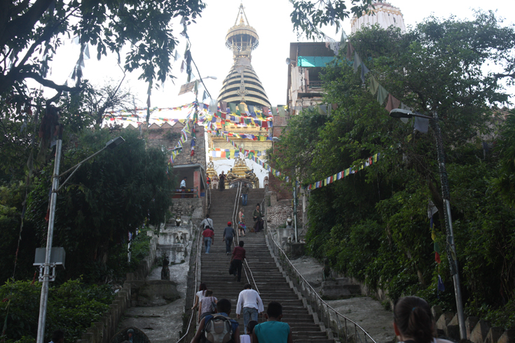 The Swayambhunath Temple (Monkey Temple)