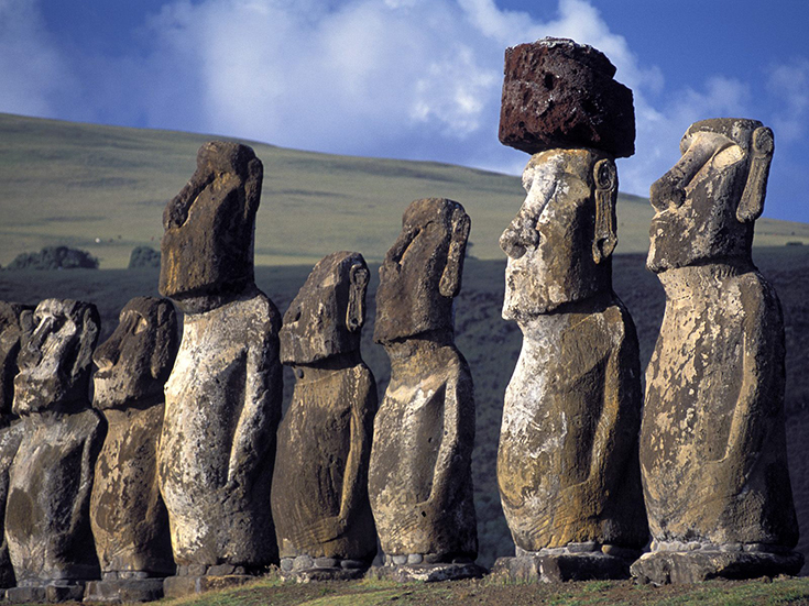 Proud Guardians, Ahu Tonhariki Ceremonial Site, Easter Island, Chile
