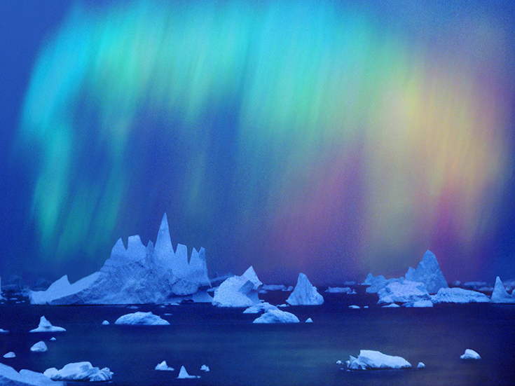 Aurora Australis Over the Bellingshausen Sea, Ellsworth Land Region, Antarctica