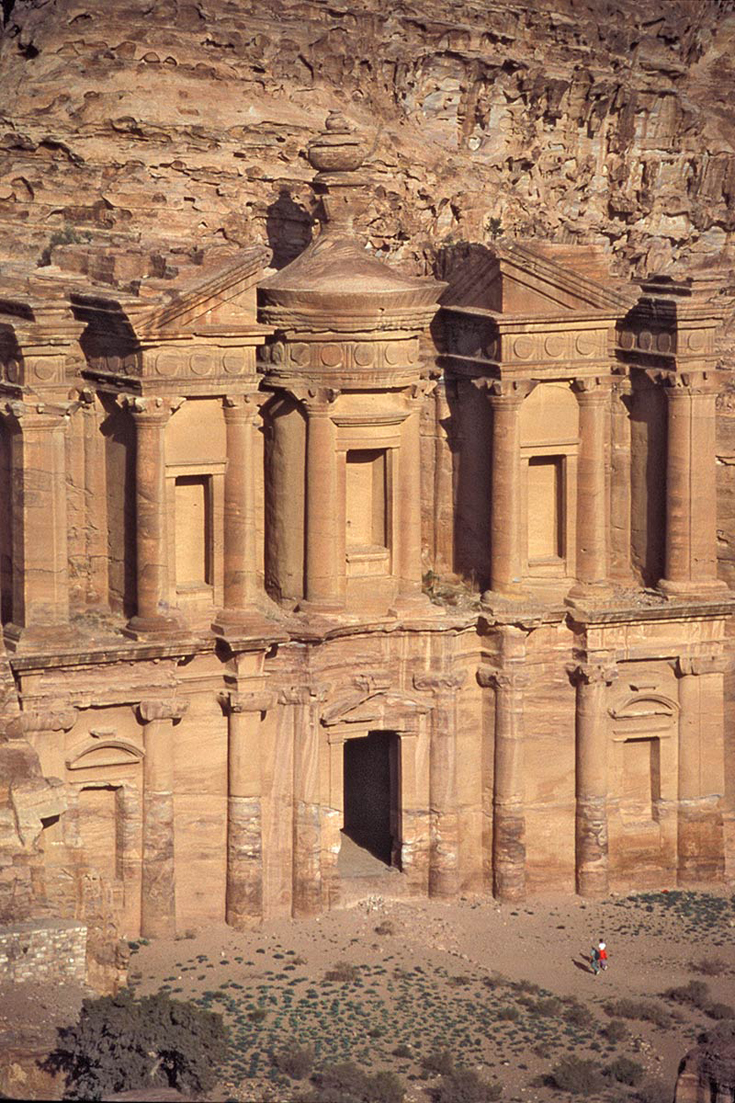 Detail of El Deir, Nabataean temple